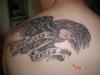 eagle with my kids names tattoo