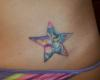 Star/Moon on Hip tattoo