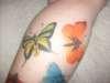 2 butterflies tattoo