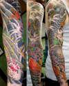 Koi Sleeve Japanese tattoo