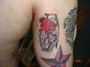 heart gernade tattoo