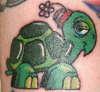 Happy Turtle tattoo
