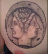 Janus Coin tattoo