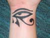 egyptian eye with tear tattoo