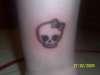 cute lil skull tattoo