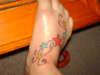 Stars on my foot! tattoo