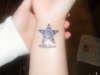 My wrist star tattoo