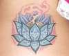 lotus/back tattoo
