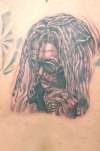 Peter Tosh Portrait - middle back tattoo