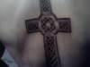 celtic cross (back) tattoo