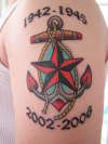 Anchor/Star Navy Tribute tattoo
