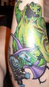 Nightmare Before Christmas Sleeve ( Still have one more session) tattoo