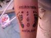 "baby footprints ""Daddy"" tattoo"