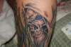 Flames and Skills tattoo