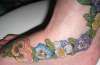Floral detail tattoo