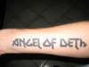 angel of deth tattoo