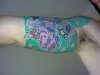 star and koi half sleeve tattoo