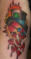old skull tattoo