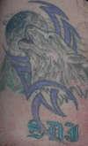 Wolf w/tribal tattoo