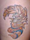 Goku SSJ3 from DBZ tattoo