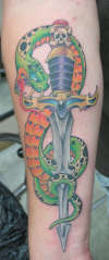 snake and dagger tattoo