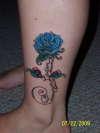 Blue Rose Memorial Tattoo