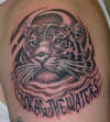 pantera themed tiger tattoo