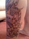 start of my dragon tattoo