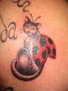 cat ladybug, done by Kaylene @ Wicked Ink Penrith Australia tattoo