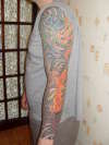 dragon sleeve tattoo