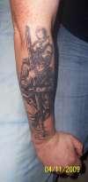 Saint Christopher , St Christopher  tattoo