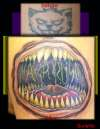 Mouth with teeth Tattoo- coverup tattoo